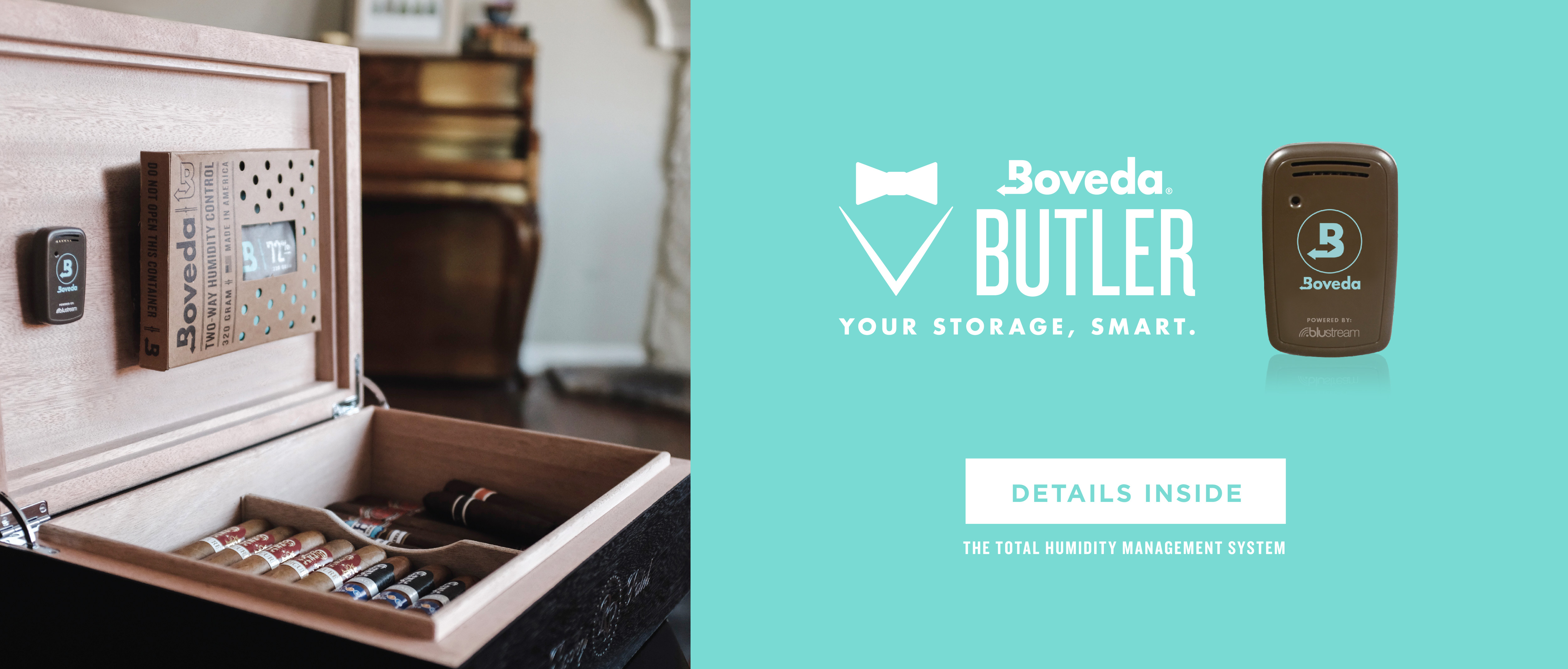 The Boveda Butler cigar monitor.